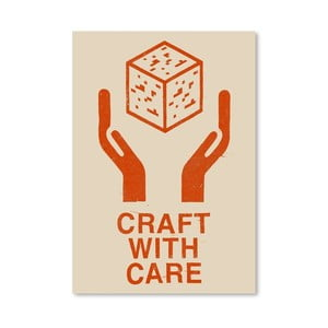 Plakat Craft With Care 1, 30x42 cm
