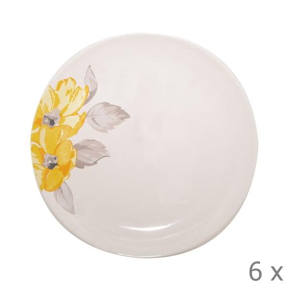 Komplet 6 talerzy Elise Floral, 26,5 cm