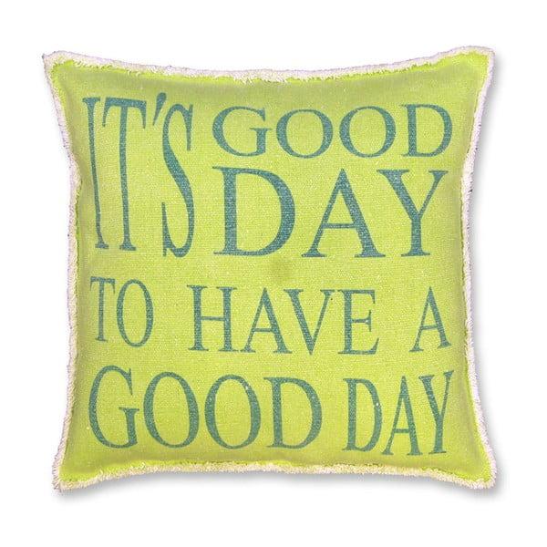 Poduszka Good Day 45x45 cm, limonkowa