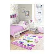 Różowy dywan dziecięcy Confetti Sweet Hearts, 100x150 cm