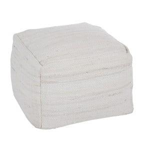 Puf Chindi, 50x50 cm, biały