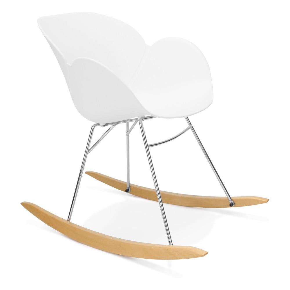 Biały fotel bujany Kokoon Knebel