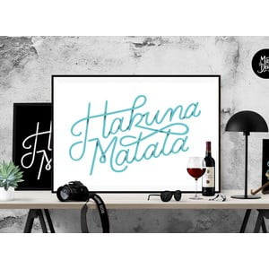 Plakat Hakuna Matata Blue, A3
