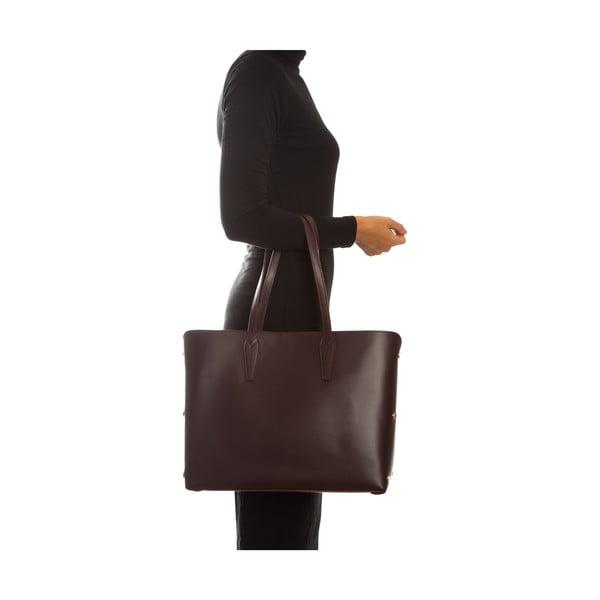 Bordowa skórzana torebka Sofia Cardoni Amelia