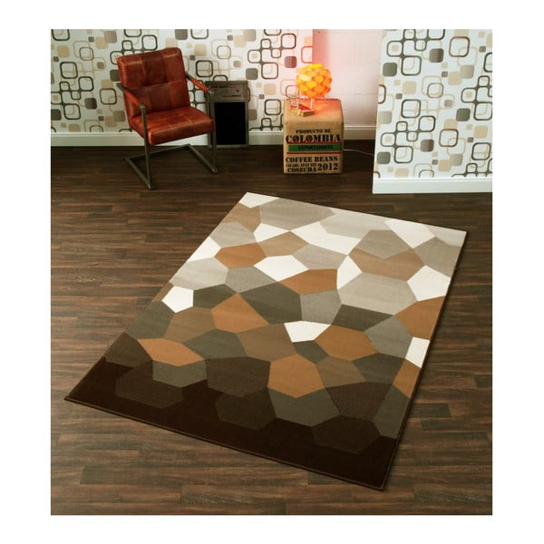 Dywan Hanse Home Prime Pile, Abstract Brown, 240 x 330 cm