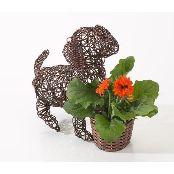 Dekoracyjna rattanowa doniczka Dog and Plant