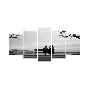 Wieloczęściowy obraz Black&White no. 7, 100x50 cm