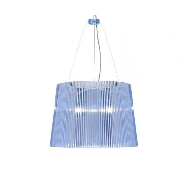 Lampa wisząca Kartell GÉ Crystal, niebieska