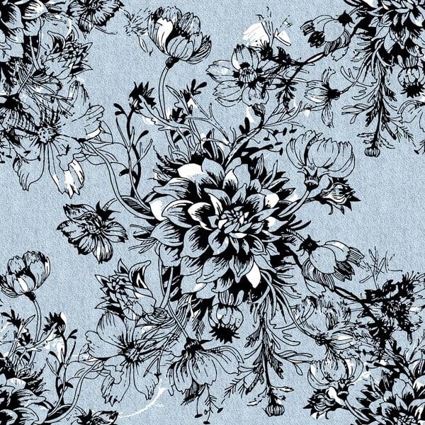 Pościel Black Flower, 240x220 cm