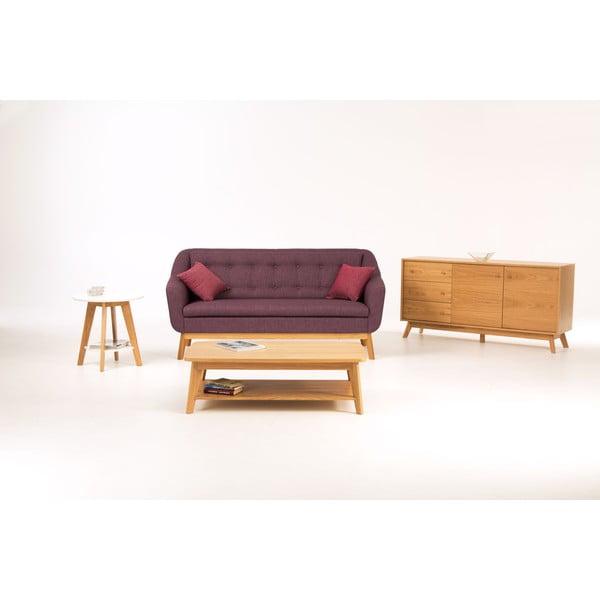 Fioletowa sofa Woodman Paula