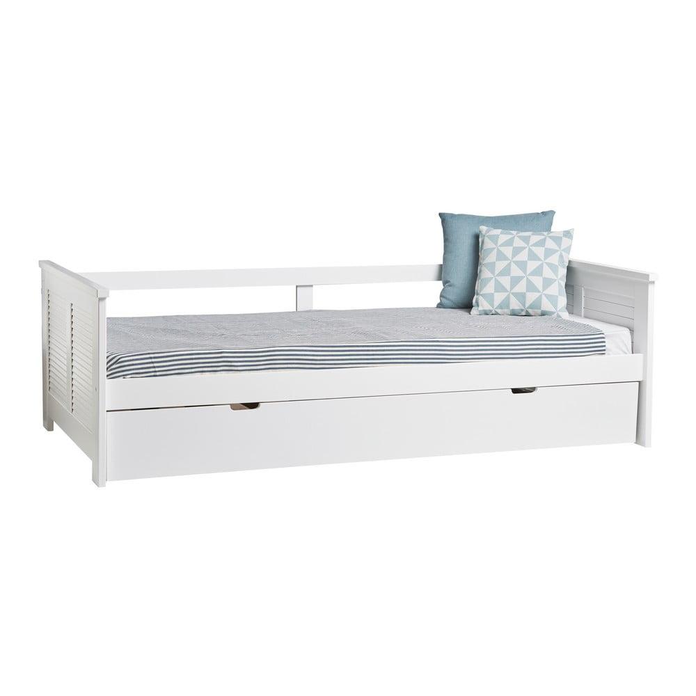 Białe Rozkładane łóżko Marckeric Maui 90x190 Cm Bonami