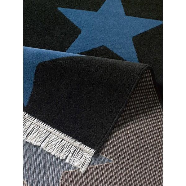 Dywan Fringe - granatowy w gwiazdy, 80x200 cm