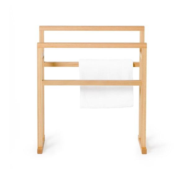 Stojak na ręczniki z drewna dębowego Wireworks Mezza Grande