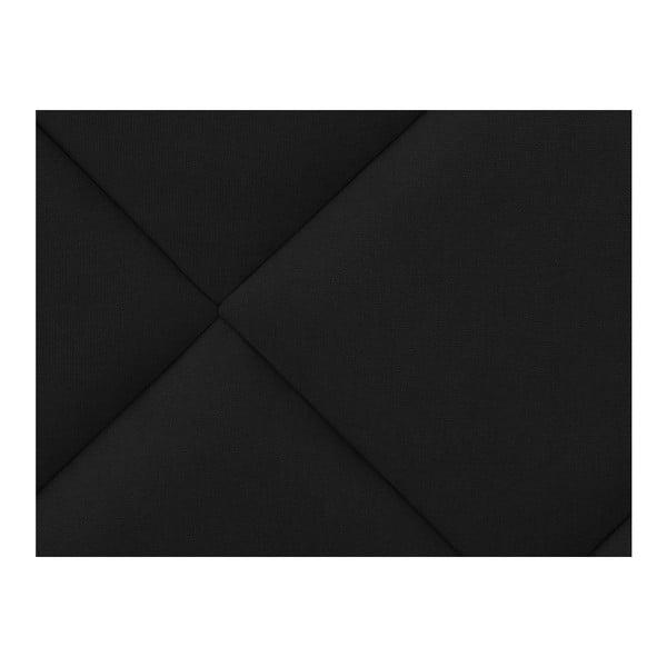 Czarny zagłówek łóżka Windsor & Co Sofas Superb, 200x120 cm