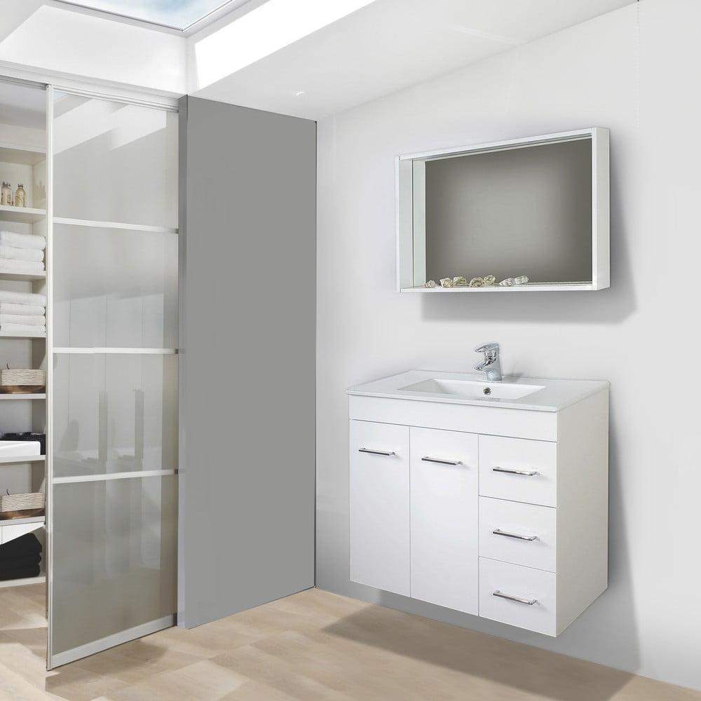 Szafka Do łazienki Z Umywalką I Lustrem Byron 70 Cm Bonami