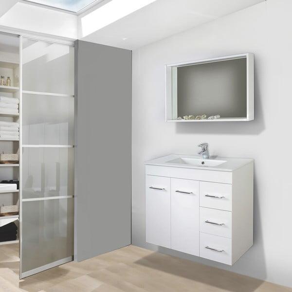 Szafka do łazienki z umywalką i lustrem Byron, 70 cm