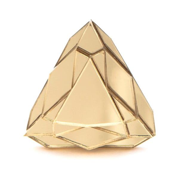 Pierścionek Baguera Vectory Trilliant Gold, 1.7 cm