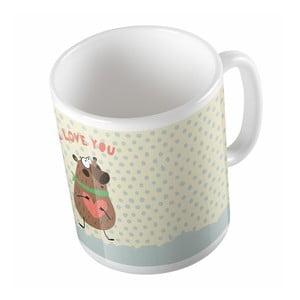 Ceramiczny kubek I Love You, 330 ml