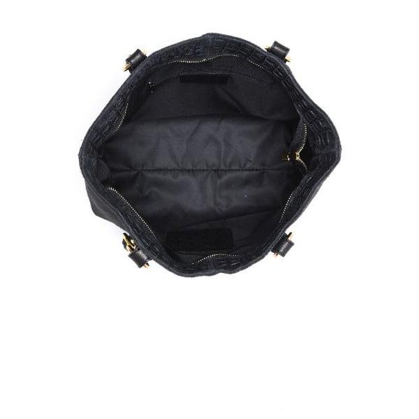 Skórzana torebka Carla Ferreri 863 Nero