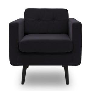 Fotel VIVONITA Sondero Dark Grey, czarne nogi