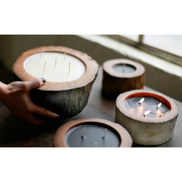 Palmowa świeczka Legno Ebony o zapachu pszczelego miodu, 100 godz.