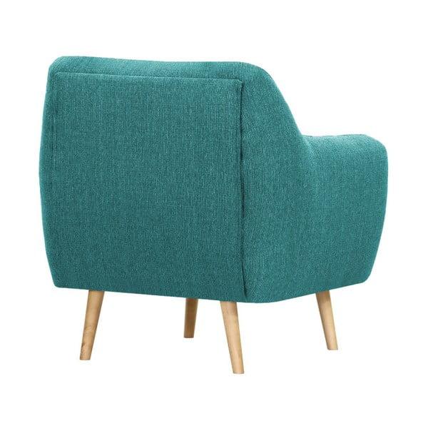Turkusowy fotel Vivonita Lila