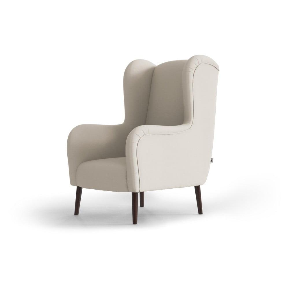Kremowy fotel uszak My Pop Design Muette