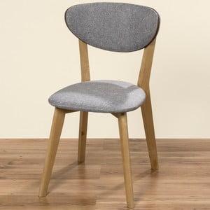Szare krzesło Boltze Hanna, 81 cm
