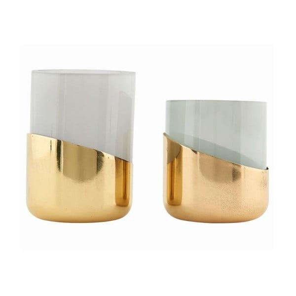 Zestaw 2 świeczników Bright Brass