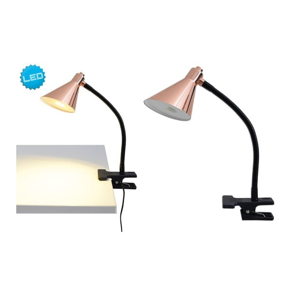 Lampa stołowa Neave Copper Black Clip