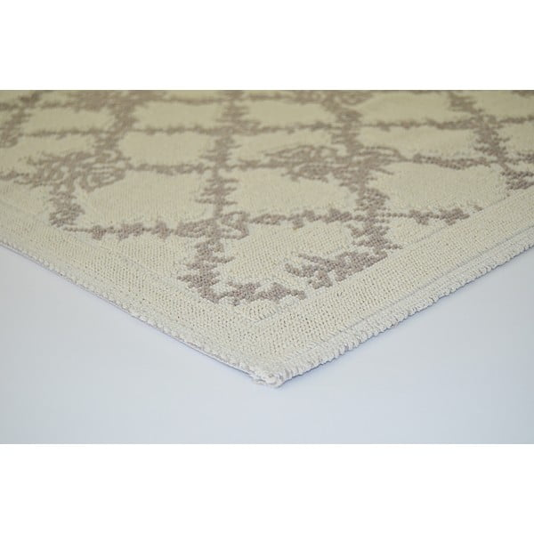 Beżowy wytrzymały dywan Vitaus Scarlett, 80x150 cm