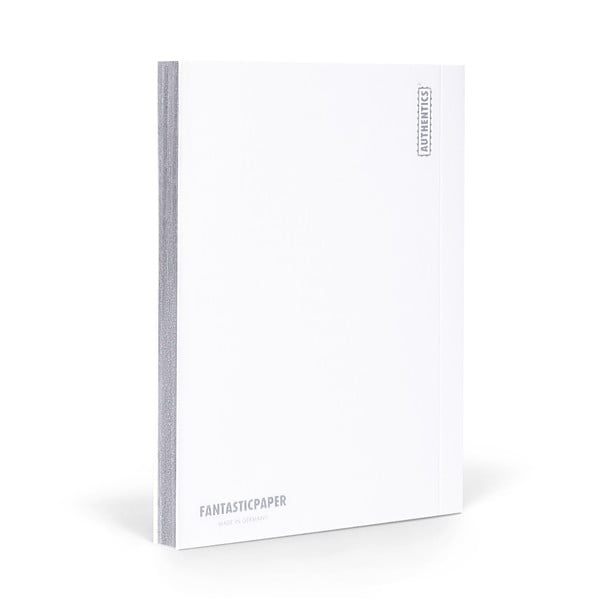 Notes FANTASTICPAPER A5 Snow/Silver, w kratkę