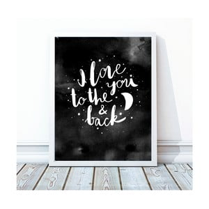 Oprawiony plakat To The Moon And Back, 30x40 cm