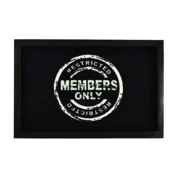 Wycieraczka Members Only Black, 40x60 cm