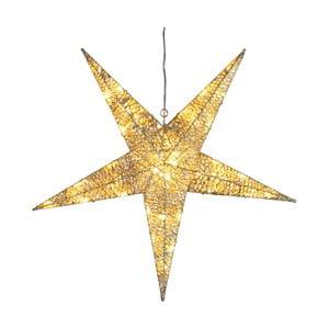 Świecąca dekoracja Golden Star, wysokość 55 cm