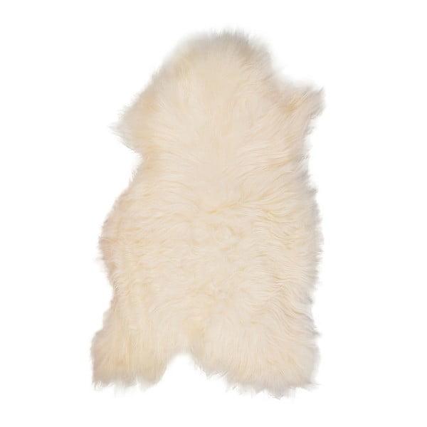 Biała skóra owcza z długim włosiem Ptelja, 110x60 cm