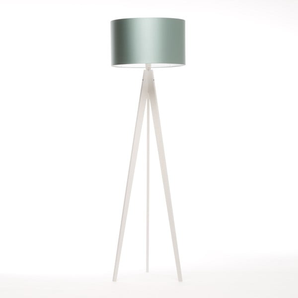 Lampa stojąca Artist Light Green Blue/White Birch, 125x42 cm