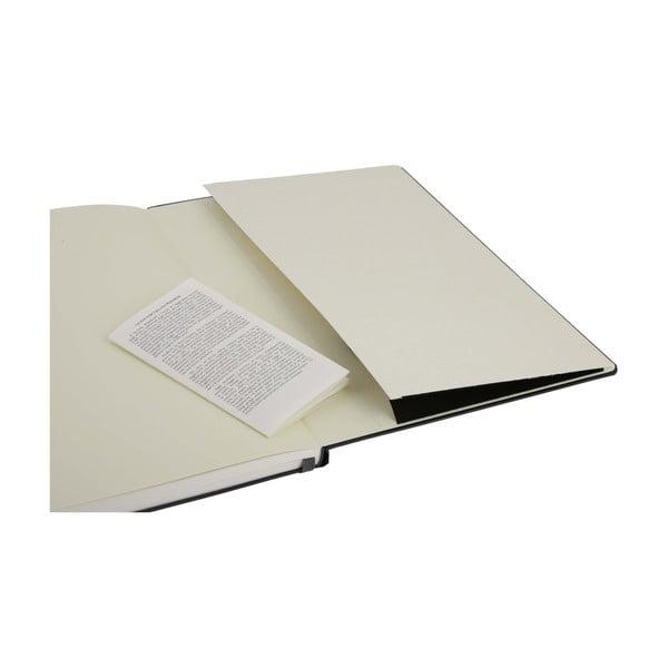 Notatnik Moleskine Folio Book, czarny + strony w linię
