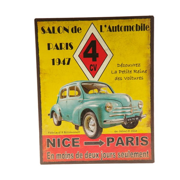 Blaszana tablica Nice - Paris