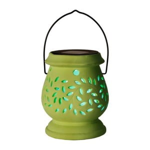 Zielony lampion ogrodowy LED Clay Green