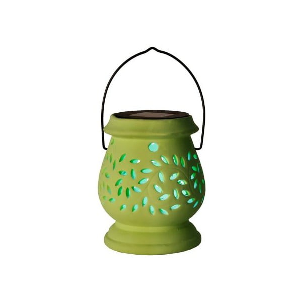 Zielony lampion ogrodowy LED Clay Green