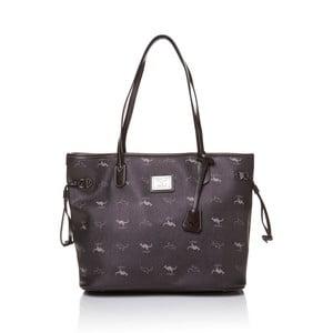 Skórzana torebka przez ramię Canguru Shopper, brązowa