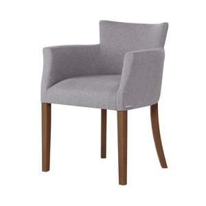 Szare krzesło z ciemnobrązowymi nogami Ted Lapidus Maison Santal