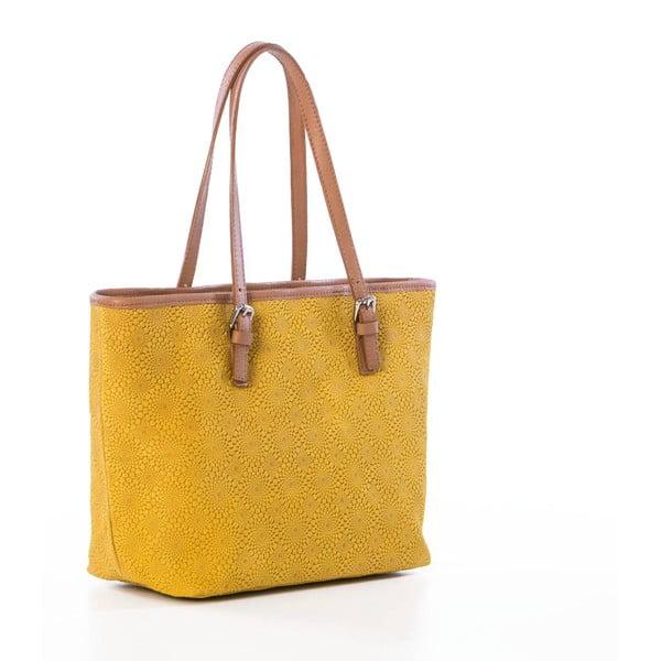 Żółta torebka skórzana Federica Bassi Girandola