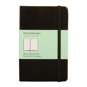 Czarny notatnik Moleskine Musicdo nut, mały
