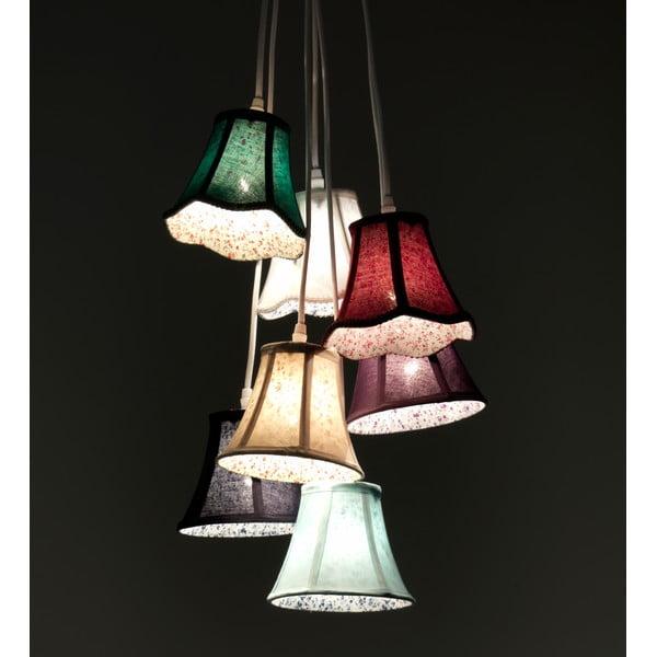 Kolorowa lampa wisząca z 7 kloszami Tomasucci Bells