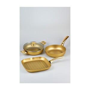 Komplet 3 patelni Bisetti Essential Stonegold