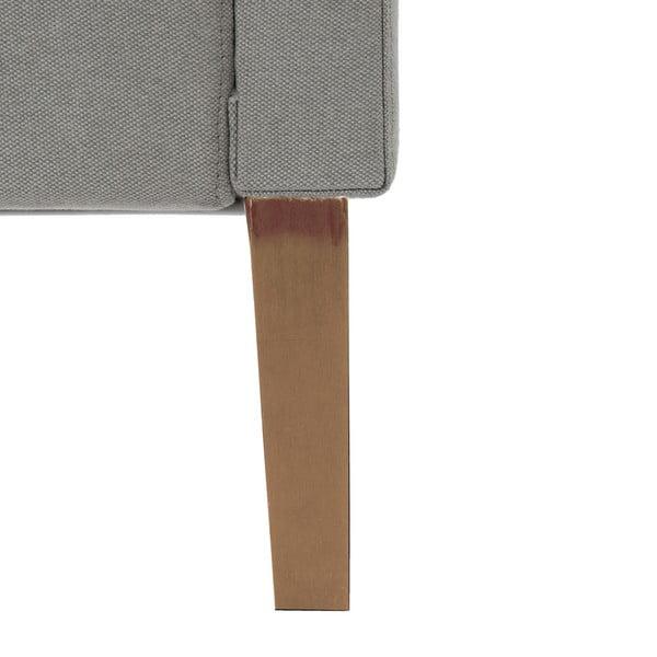 Jasnoszare łóżko z naturalnymi nóżkami Vivonita Kent, 180x200 cm