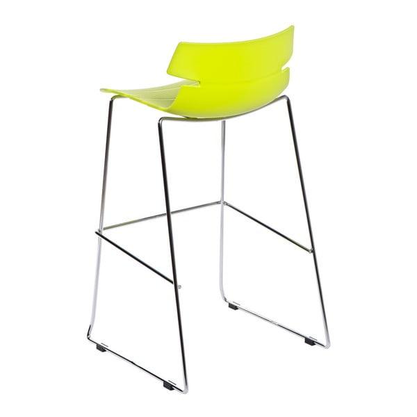 Krzesło barowe D2 Techno, zielone