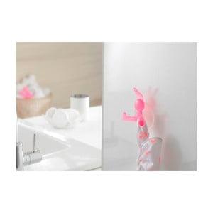Różowy haczyk z przyssawkami w kształcie królika Compactor